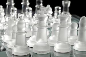 bijgesneden afbeelding van schaakstukken