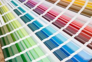 abstracte achtergrond van kleurengids. detailopname foto