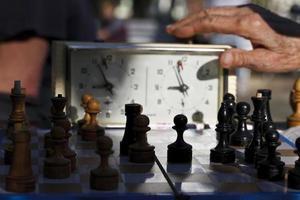 schaak. speeltijd foto