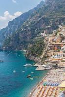 positano en Middellandse Zee foto