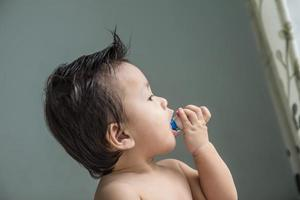 kinderspeelgoed zit in een hapje. foto