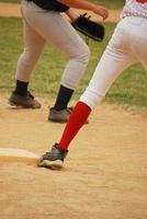 honkbal - derde honk foto