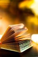 open boek met de pagina's gescheiden foto