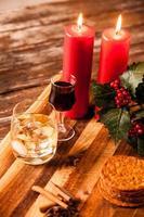kerst eten en drinken foto