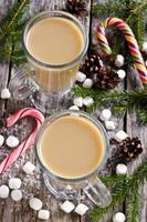 warme drank met marshmallows