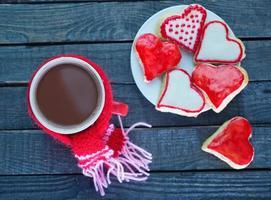 koekjes en cacaodrank foto