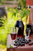 drankje van zwarte bes foto