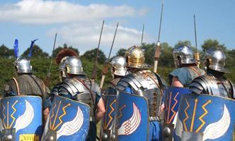 Romeinse leger marcheert verder foto