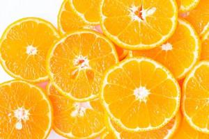 Sinaasappelschijfje voor gezond eten foto