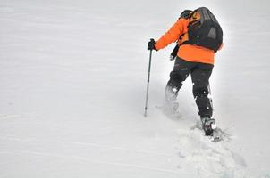 wandelen in de sneeuw foto