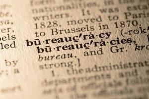 het woord bureaucratie foto