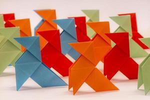 papieren vogels foto