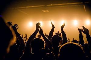 concert menigte foto