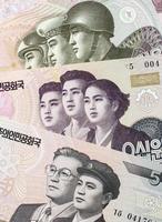 een deel van noord-koreaans won foto