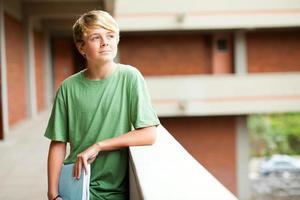 middelbare school tiener student foto