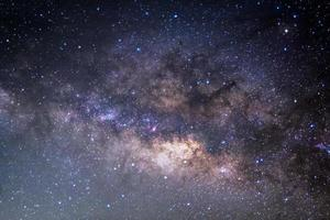de panoramische melkweg, foto met lange belichtingstijd.