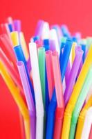 kleurrijke rietjes achtergrond foto