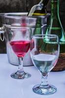 een glas drinken foto