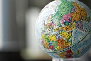 wereldbol model foto