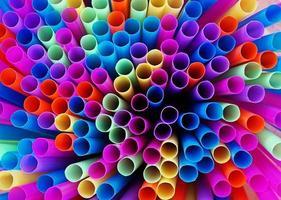 kleurrijke radiator van rietjes