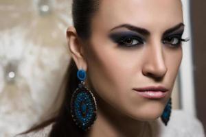 close-up portret van een vrouw foto