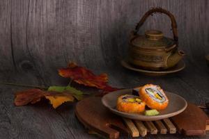 sushi en thee drinkset foto