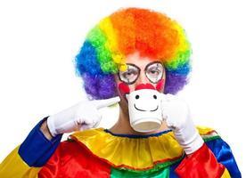 clown drinken foto