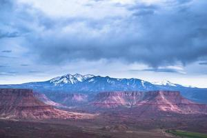 Professor Valley kijkt uit over Utah foto