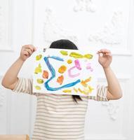schilderij meisje foto