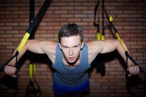 training in de sportschool foto