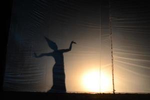 silhouet van engel foto
