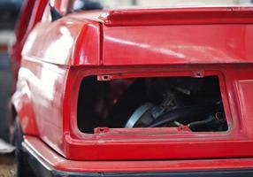 close-up foto van lege achtergrondverlichting slot auto