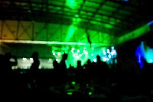silhouet concert voor het podium