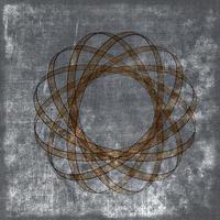 grunge sepia achtergrond met atoomkern foto