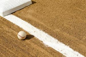 honkbal - vuile bal foto