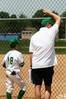 speler en coach foto