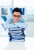 vrolijke Vietnamese manager foto