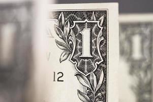 een dollar voor achtergrond. foto