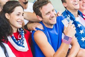 Amerikaanse supporters in het stadion foto