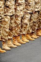 woestijn camouflage uniform foto
