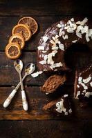 zoete chocoladetaart foto