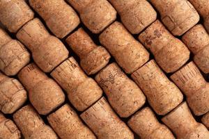 champagne wijnkurken textuur