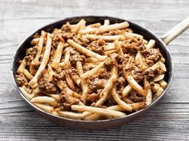 rustieke Amerikaanse chili frietjes