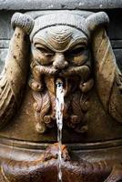 stenen gezicht waterspuwer foto