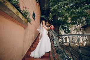 trouwdag mooi paar foto