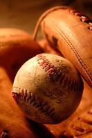 honkbalhandschoen foto