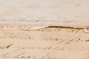 vintage brief met kopie ruimte