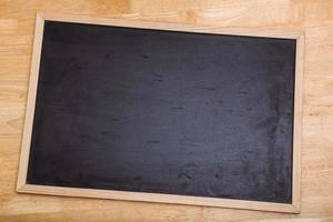 zwart krijtbord met kopie ruimte foto