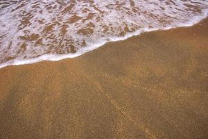 strandgolf met diagonaal element en exemplaarruimte foto