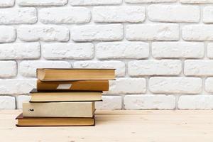 boeken op tafel. foto